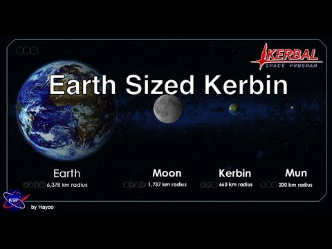 Kerbal Space Program - Rescaled Kerbin Mod
