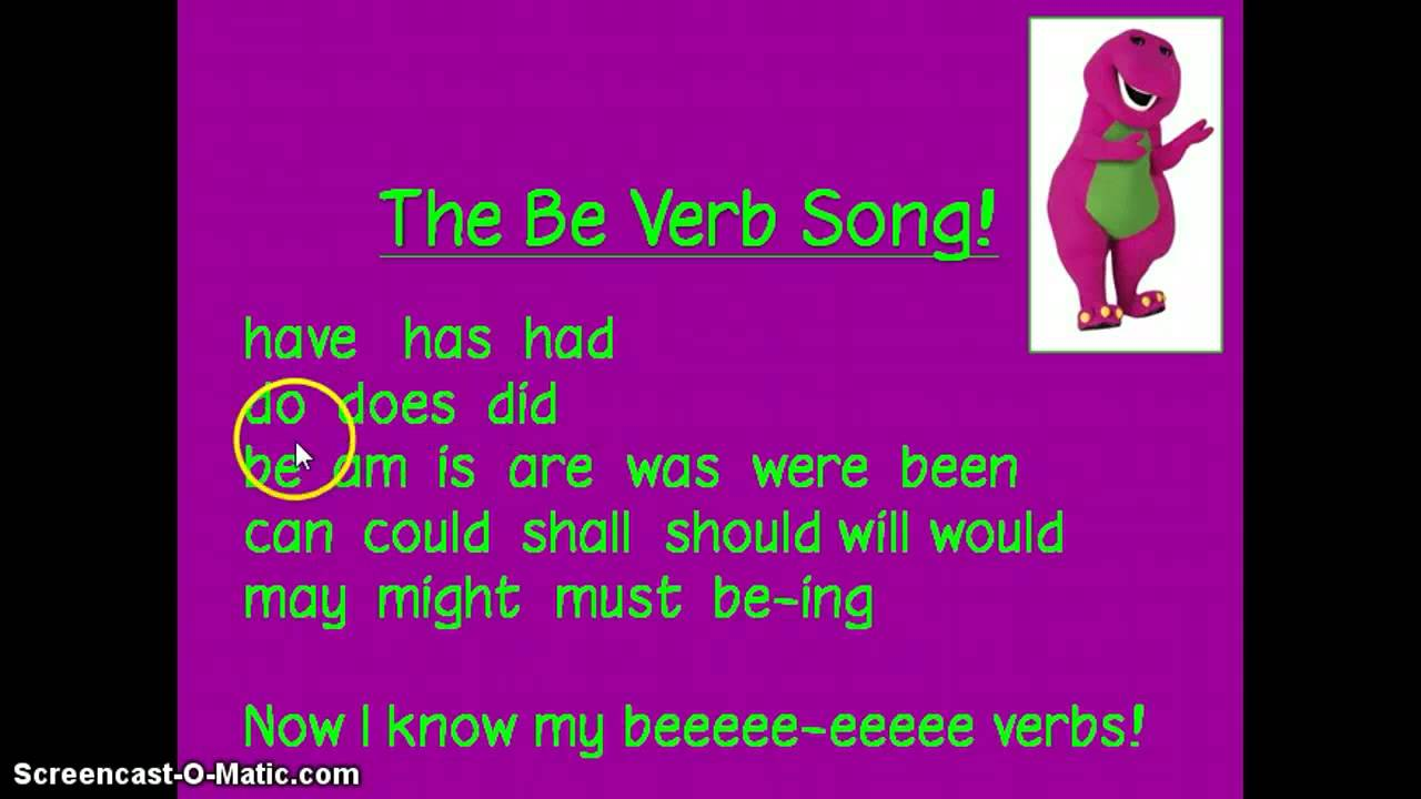 Barney Be Verb Song