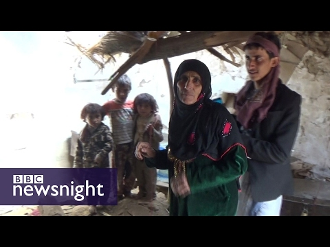 Exclusive footage of US strike in Yemen (* warning: some distressing scenes*) - BBC Newsnight