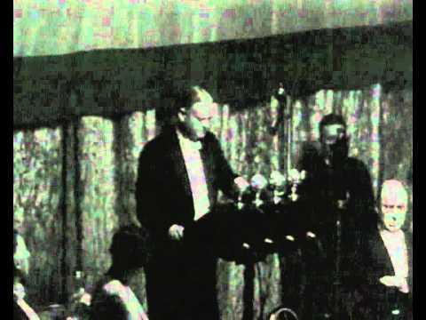 Herbert Hoover making last speech as President