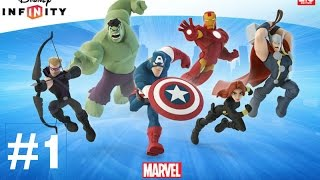 Disney Infinity 2.0 Marvel Super Heroes Walkthrough Part 1 - THE AVENGERS! (Ps4 Gameplay 1080p HD)