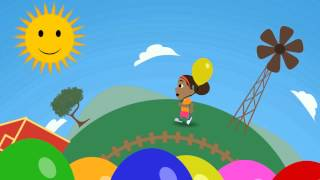 The Balloon Song - Learn Colors for Toddlers and Babies