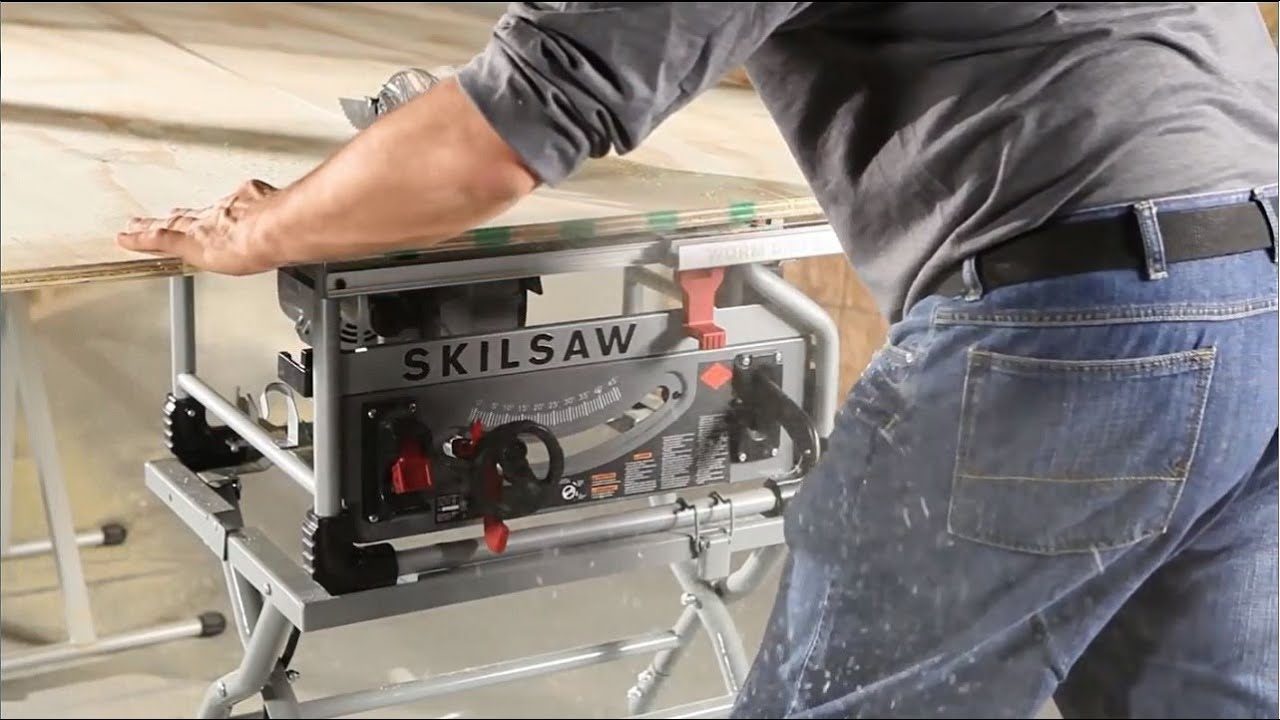 Skilsaw spt70wt 22 10 in benchtop worm drive table saw product videos greentooth Choice Image