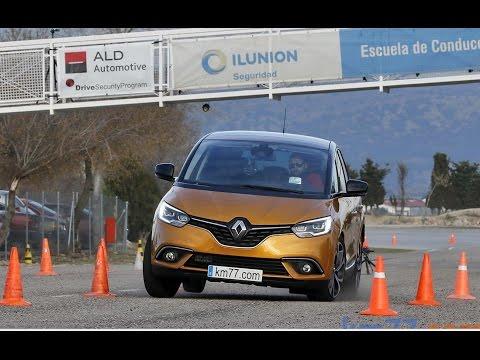 Renault Scenic Energy dCi 130 2017 - Maniobra de esquiva (moose test) y eslalon | km77.com