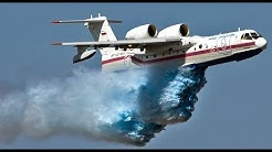 Aviation Takeoff Beriev Be-200 Altair multipurpose amphibious aircraft