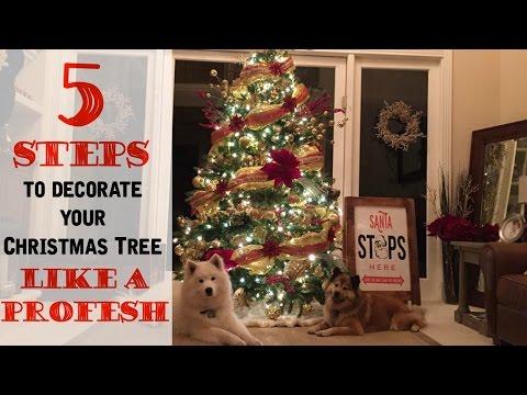 Steps To Decorating Christmas Tree Like Professional