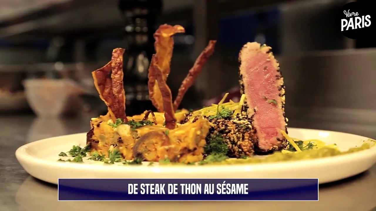 La Recette Du Steak De Thon Au Sesame Du Restaurant Else Youtube