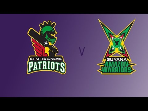St Kitts and Nevis Patriots vs Guyana Amazon Warriors Live Streaming CPL T20 2017