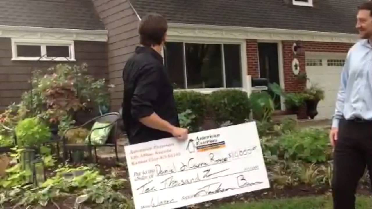 Winners of the american exteriors llc 10 000 home make over contest youtube for American exteriors kc