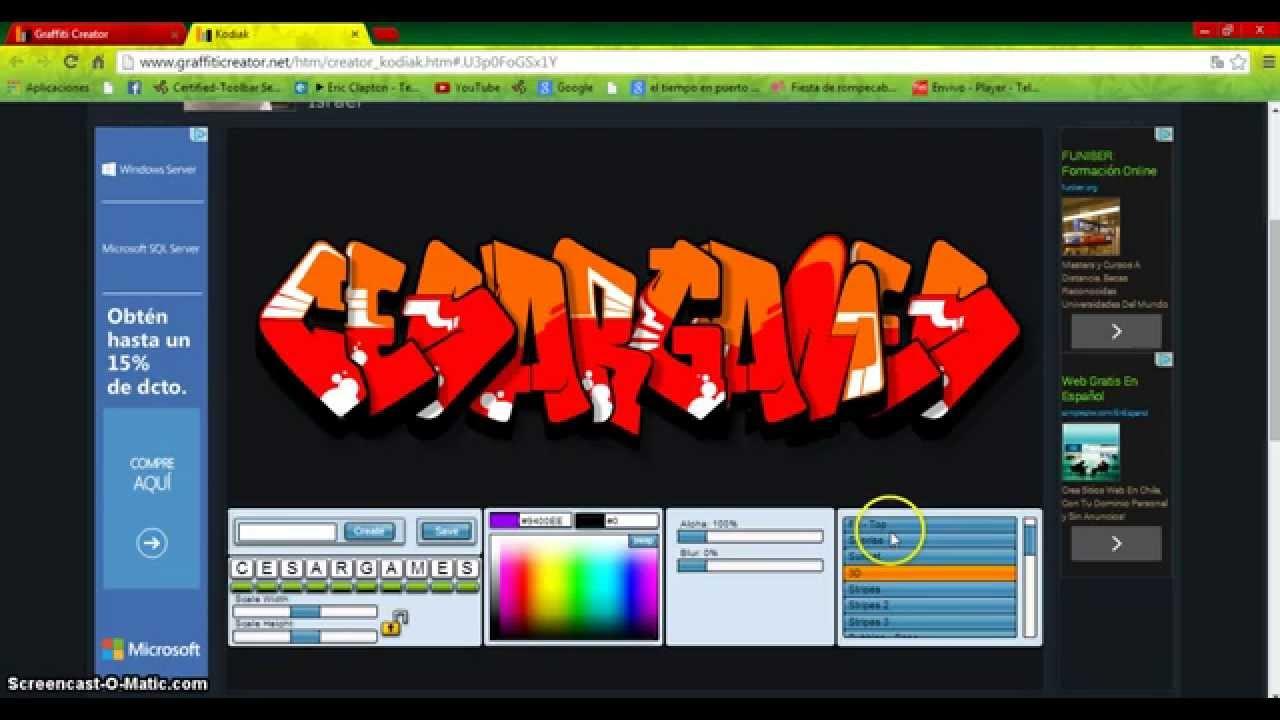 Pagina web para hacer graffitis online gratis youtube for Paginas para hacer planos gratis