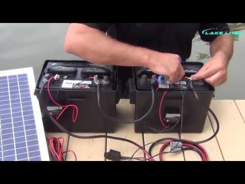 lake lite 24v boat lift solar system wiring instructions - youtube  youtube