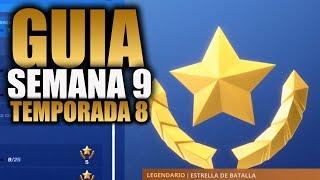 COMO COMPLETAR TODAS LAS MISIONES DE LA SEMANA 9 TEMPORADA 8 - Fortnite Battle Royale