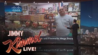 Jimmy Kimmel Talks to Owners of Oddly Named Stores
