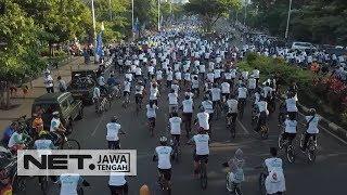 1000 Pesepeda Ramaikan Acara Gowes Bareng, Untuk Sosialisasi Turunkan Angka Kecelakaan - NET JATENG