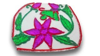 Waste Crocksheet reuse idea   DIY arts and crafts   recycling crocksheet with woolen Yarn