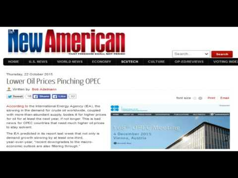 Lower Oil Prices Pinching OPEC