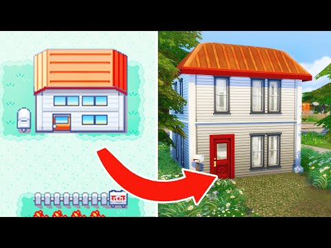?Recreating Pokemon Trainer Red's House in the SIMS 4 ❗?   Sims 4 Speedbuild ?