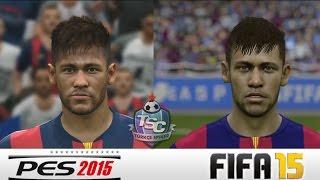 PES 2015-FIFA 15 PC | Barcelona Oyuncu Yüzleri Karşılaştırması | 1080P 60 fps