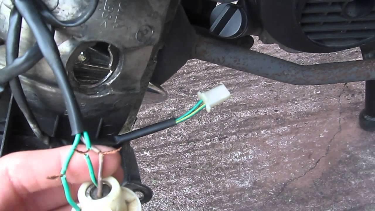 taotao scooter brake light fix part 1  YouTube
