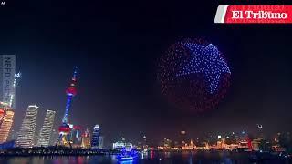 ¿Viste el show de luces de 2.000 drones en China? Así es la tecnología que hace esa magia