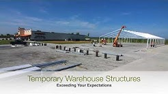 Temporary Warehouse Structures Time Lapse Turnkey Onsite Construction