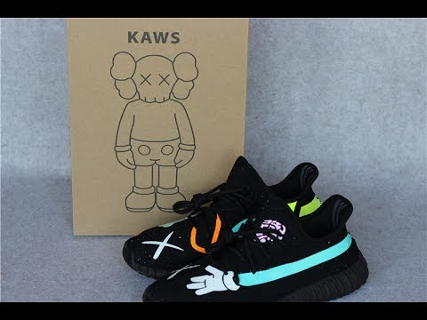 fb513bc5771a8 Kaws X Yeezy 350 V2 Collab HD Review from sneakeronfire.us - YouTube