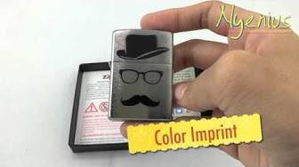 Unboxing Zippo 28648 Moustache & Hat & Glasses, Brushed Chrome