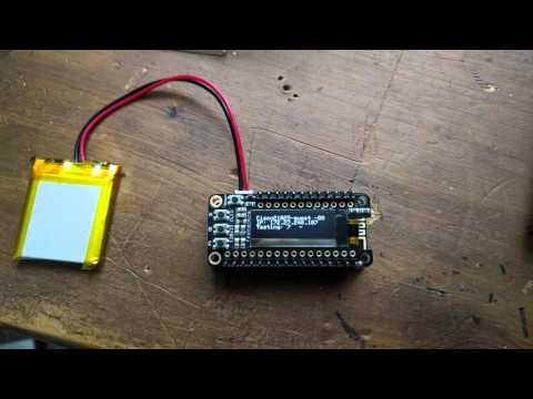 WiFi feather scanner with OLED display