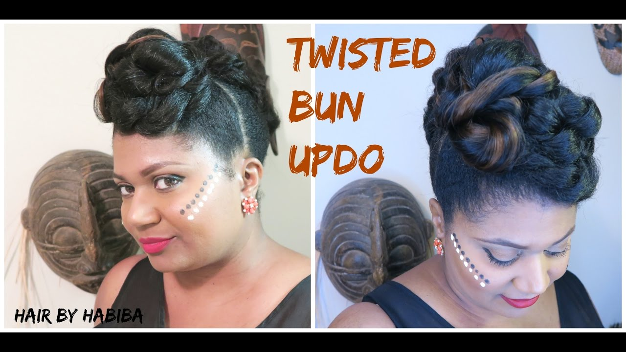 Yemi Alade Inspired Hairstyle 4 5 Twisted Bun Updo Detailed Tutorial