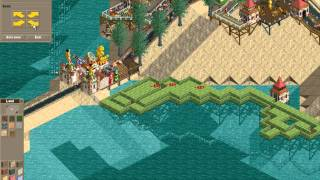 Rollercoaster Tycoon Loopy Landscapes #19 (Volcania: Offshore maze)