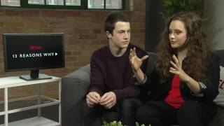 13 REASONS WHY - Interview with Dylan Minnette & Katherine Langford NETFLIX Selena Gomez
