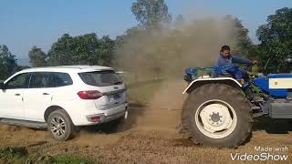 Tochan  car vs tractor /new ford Endeavour vs tractor swaraj 744😱😱