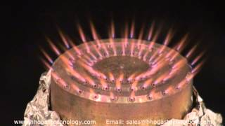 72 Holes HHO Gas Micro Burner In Action NO FLASHBACK 4-11-2015