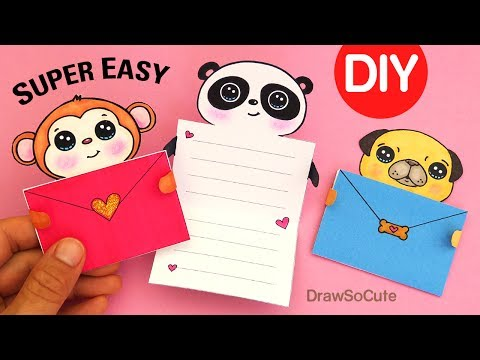 How to Make EASY Message Cards | Cute Animals