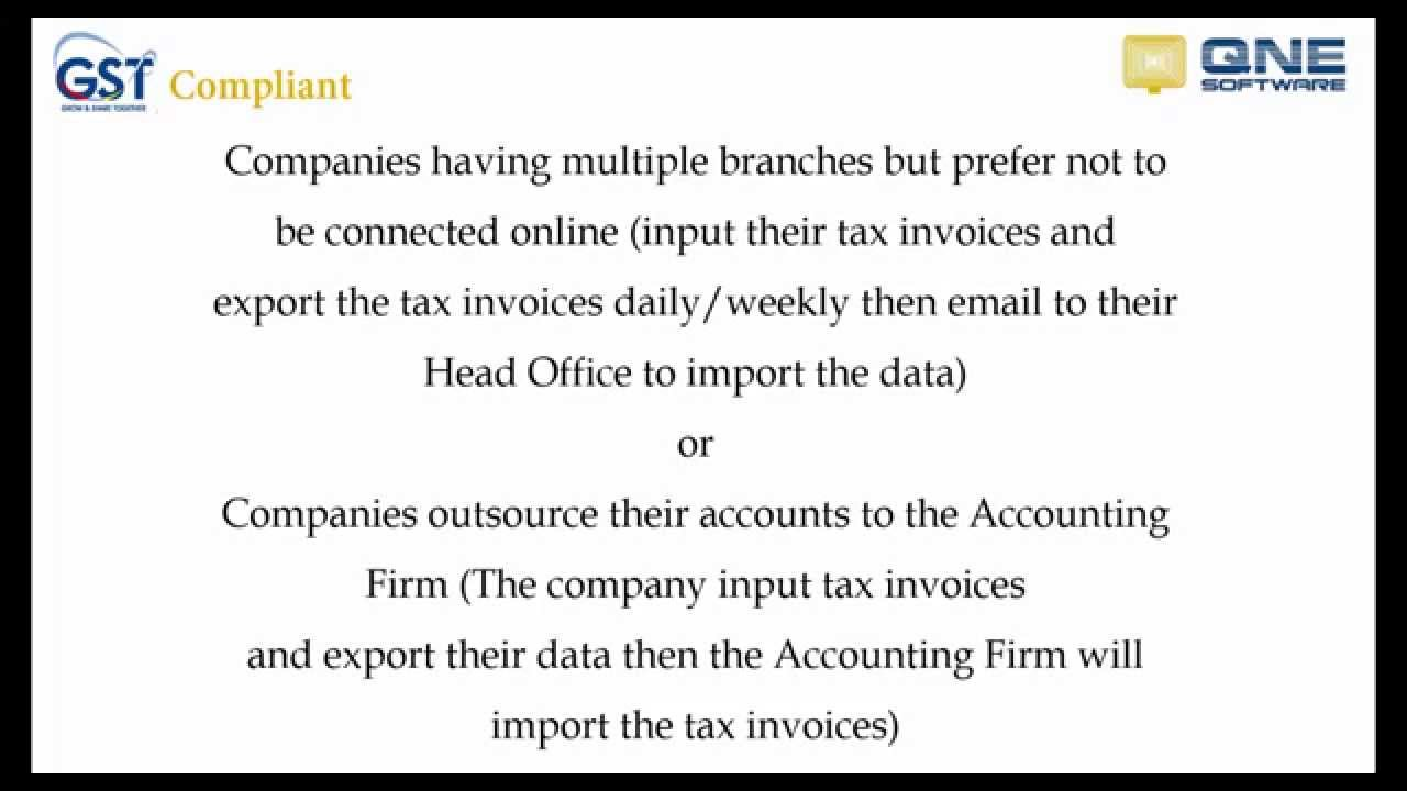 4. GST - Export Tax invoices to Head Office / Accounting Firm using ...