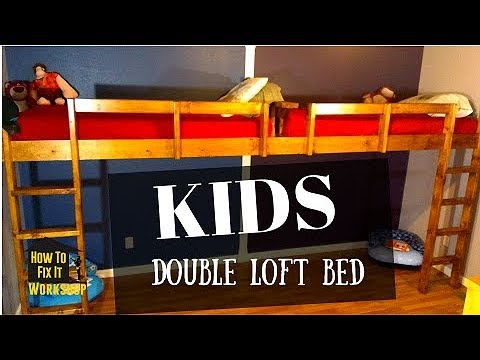 How To Build End To End Floating Loft Bed For Kids