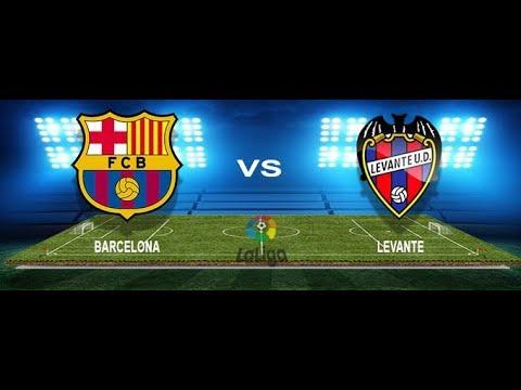 Barcelona Vs. Levante Live Streaming Laliga 7/1/2018...