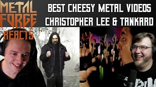 Best Cheesy Metal Video Reacts | Christopher Lee - Bloody Verdict of Verden & Tankard - Stay Thirsty
