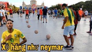 Thử Thách Bóng Đá World Cup 2018 xâu kim như Neymar và Ronaldo