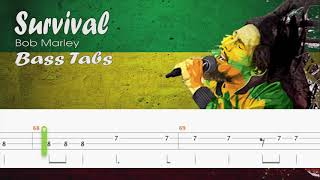 Bob Marley - Survival (Official Bass Tabs)