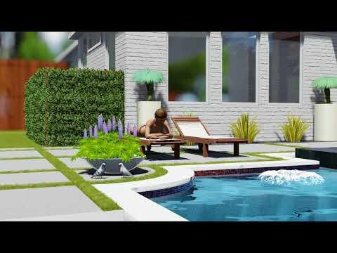 Modern Swimming Pool & Landscape Design in Dallas, By Scapes Inc.