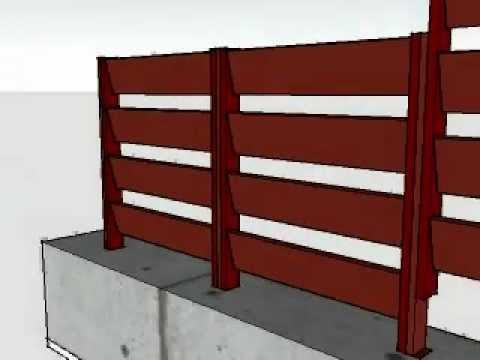 Instalacion de vallas mallorquina en madera tecnologica o maciza youtube - Valla de madera ...