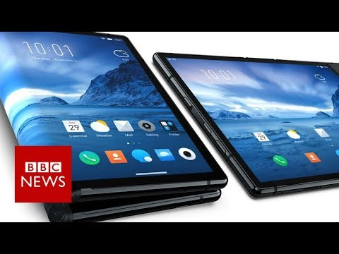 Hands on with the first bendy phone - BBC News