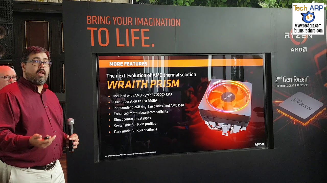 James Prior On The AMD Wraith PRISM Cooler!