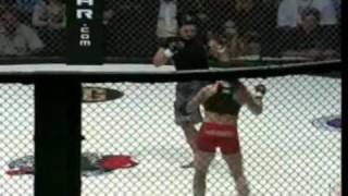 Gina Carano's second MMA fight Part 2