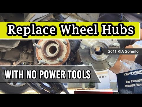 Replace Front and Rear Wheel Hubs with No Power Tools: 2011 KIA Sorento