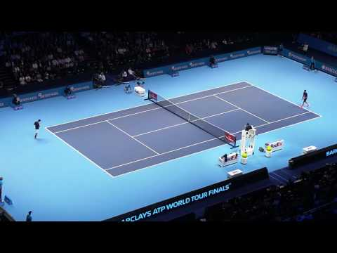 Novak Djokovic vs Milos Raonic Match Point Live Court Level!