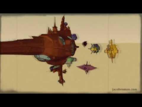 Low poly 3D ship design.