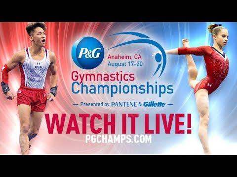 2017 P&G Gymnastics Championships - Sr. Women's Podium Training