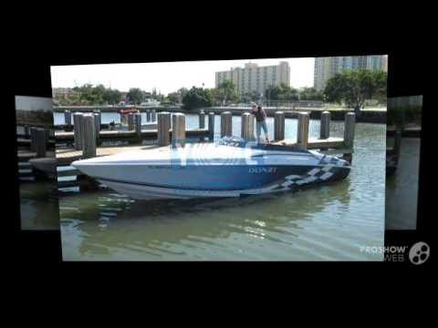 Donzi zx 33 power boat, offshore boat year - 2001